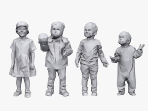 3d model stylized children child