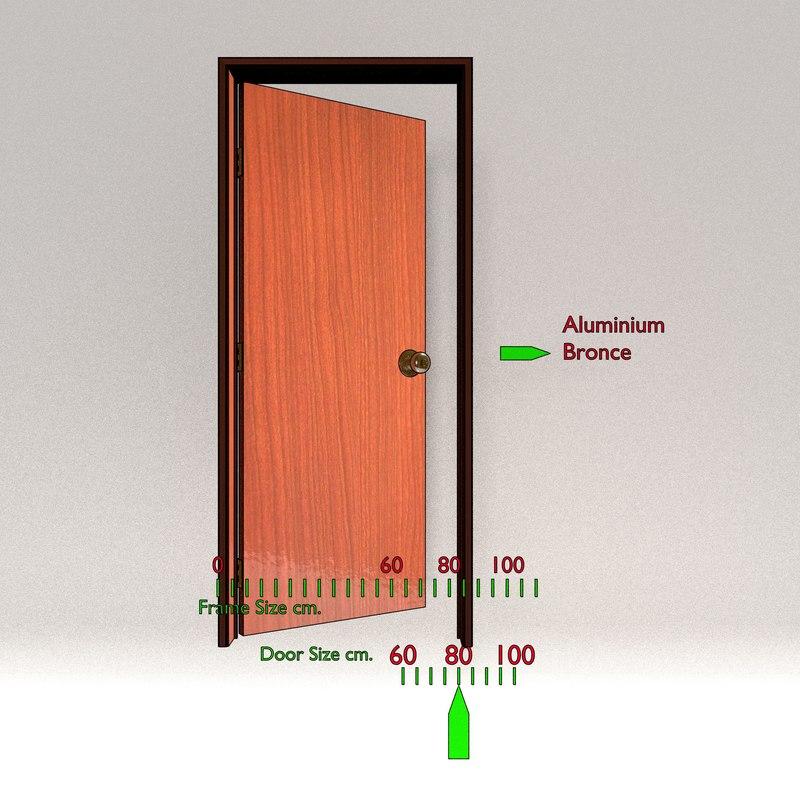 wood door 3d blend