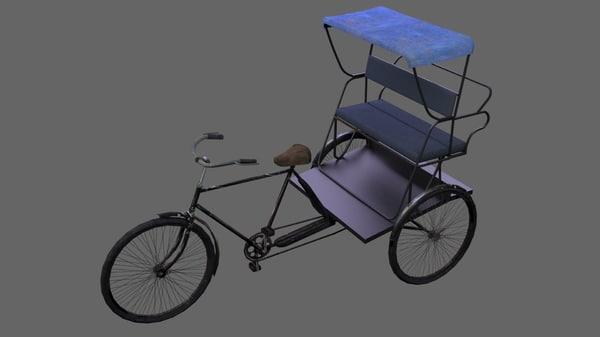3d model of cycle rickshaw
