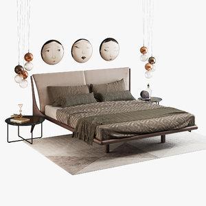 bed cattelan italia nelson 3d max