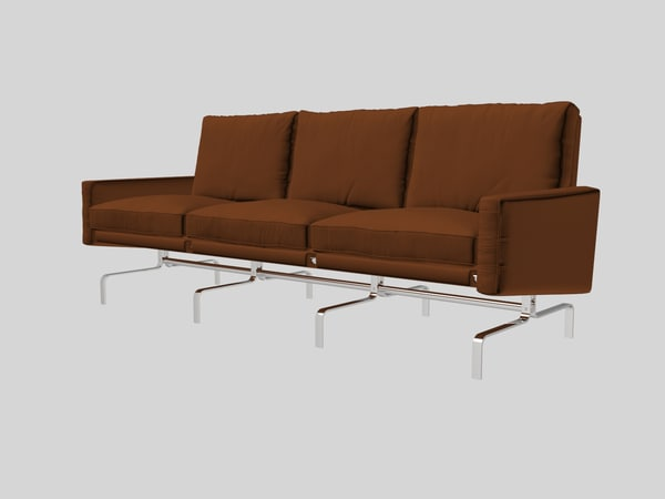 3d model poul kjaerholm pk31 sofa