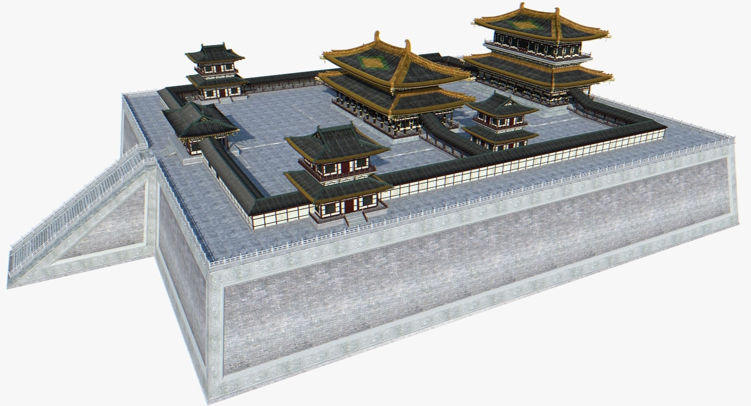 3d model of chinese palace