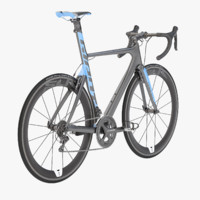Photorealistic Giant Propel Advanced SL-2 Blue-Ash Lightweight Sprinter Bicycle