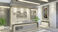 Contemporary Office Reception Lobby White