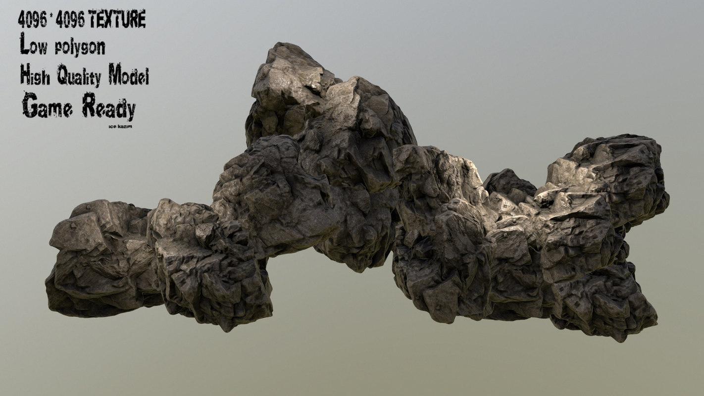 3d obj rock