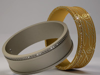 Model 003001 with Diamond Gems  Wedding Ring   3D print model