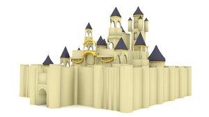 3d blender medieval castle model