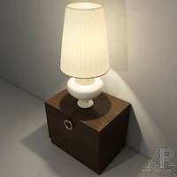 bedside table lamp shade 3d 3ds