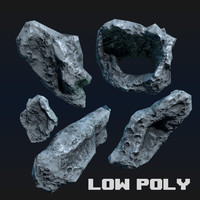 Asteroid Low Poly Game Ready
