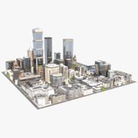 city big scene 3d model
