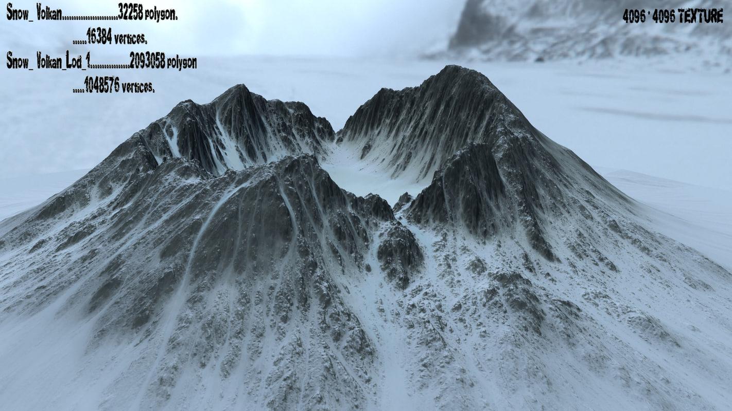 snow mountain obj