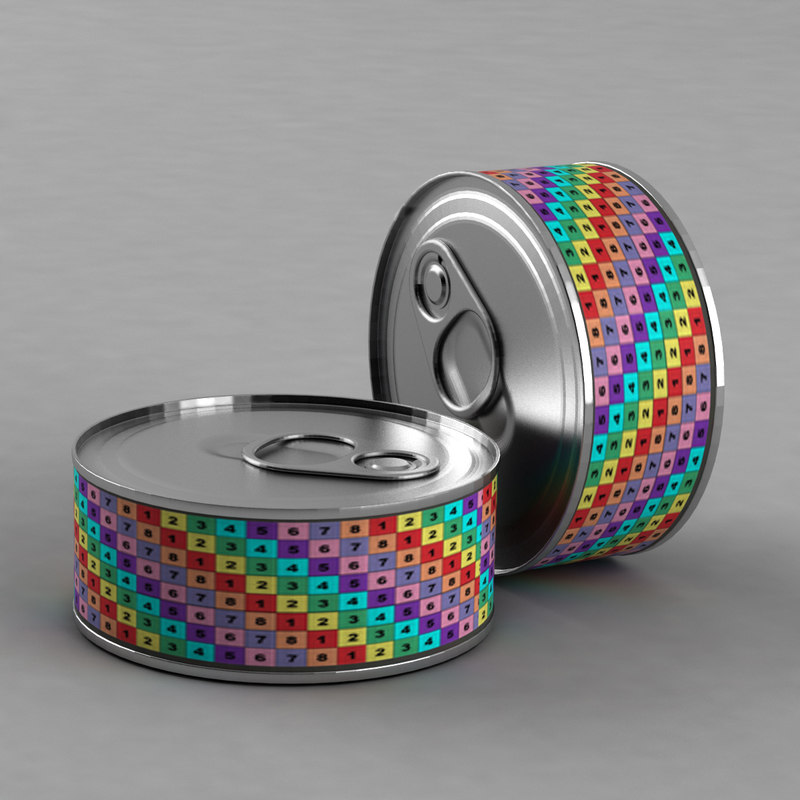 3d canned bank