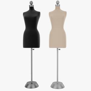 3d model female mannequins