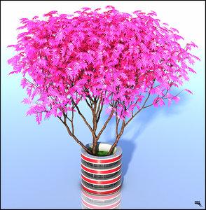 3d plant sci-fi model