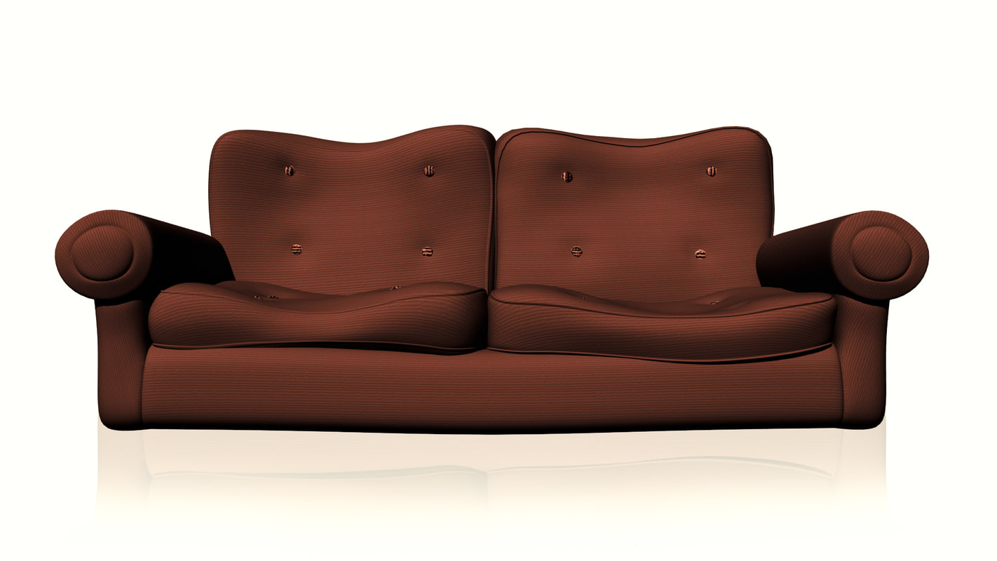 3d Model Sofa Cartoon Couch
