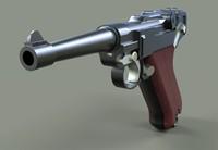 3d model luger pistol