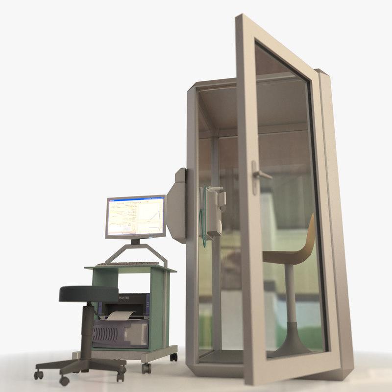 3d medical pulmonary function testing model