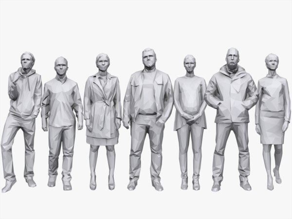 3d people pack 7 casual model