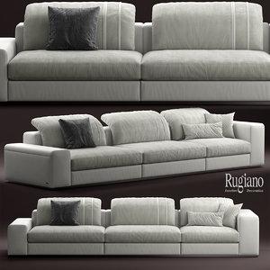 3d rugiano miami sofa