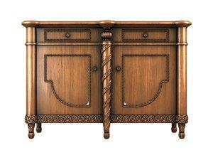 3d nightstand drawers model