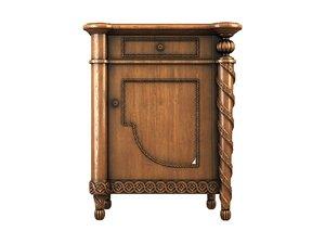 nightstand drawers 3d model