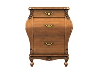 3d model of nightstand drawers
