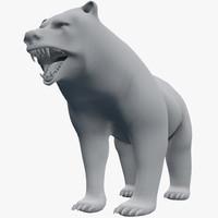 3d bear grizzly ursus