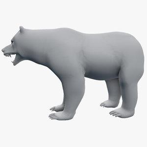 ursus grizzly 3d model