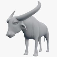 3d bubalus buffalo