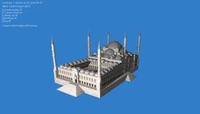 3d sultan ahmet mosque model