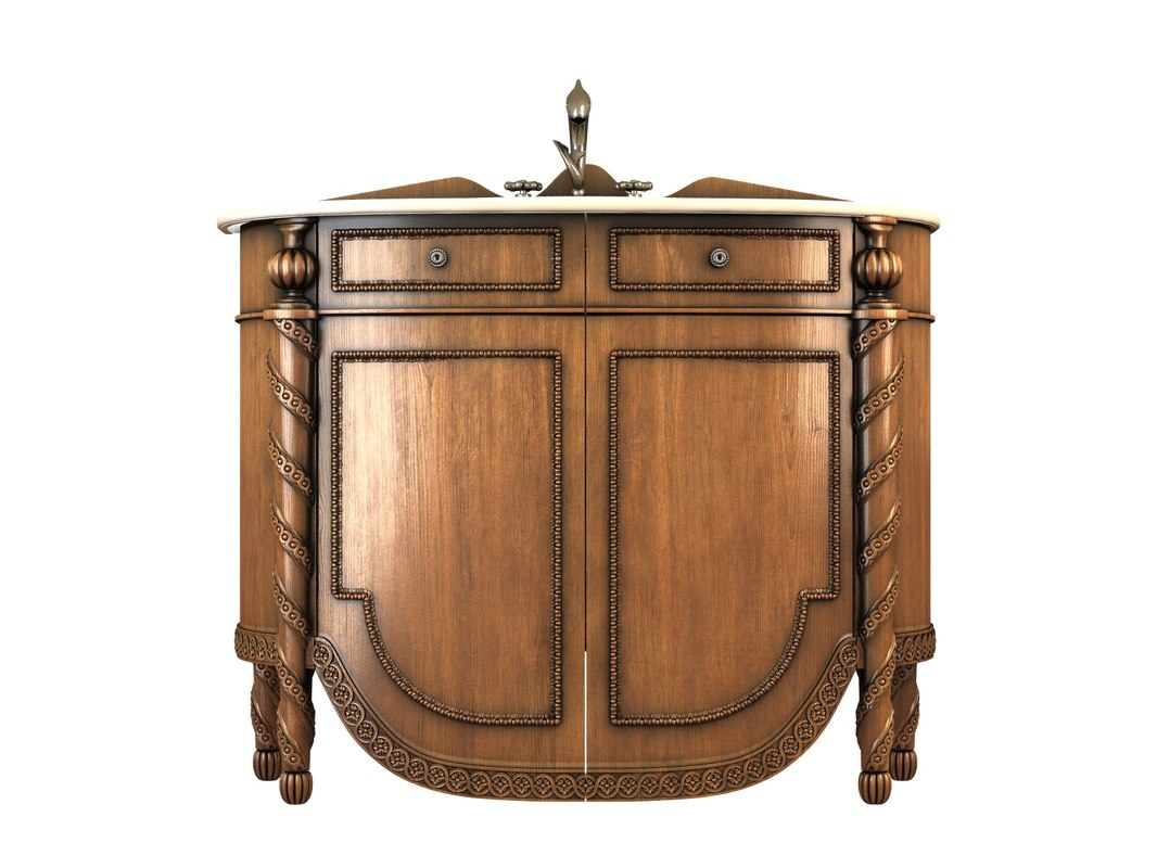 3d model nightstand drawers