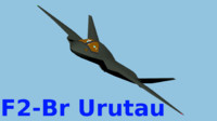 3d model of f2-br urutau - fighter aircraft