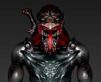 3d creature zbrush model