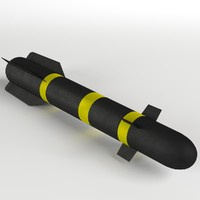 3d agm-114 hellfire missile