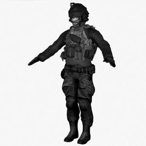 spec ops soldier c4d