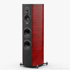 floorstanding sonus faber serafino 3d 3ds