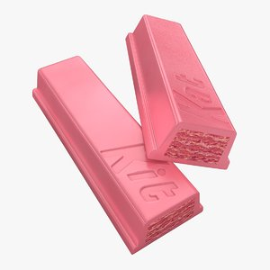 realistic broken kit kat 3d model