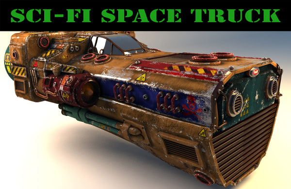 sci-fi vehicle modelled 3ds