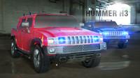 3d hummer h2 x4 jeep model