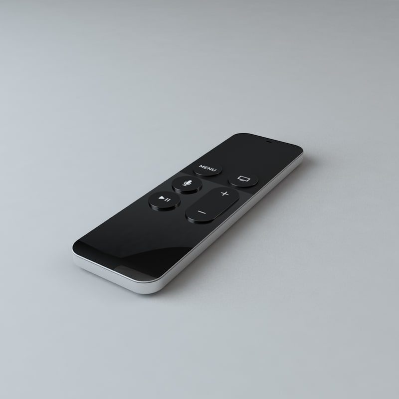 new apple tv remote 3d c4d