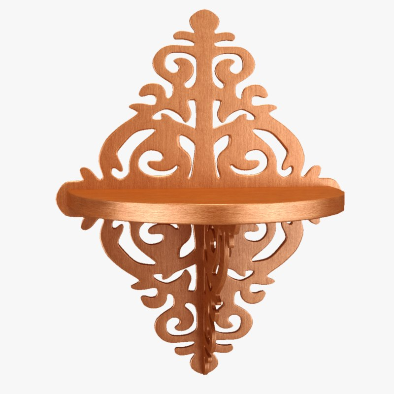 3d carved lacquered wood