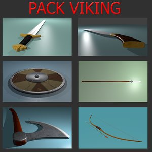 pack vikings 3d model