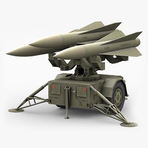 low-poly hawk missile launcher max