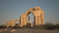 dilapidated residual wall ruins 3d model