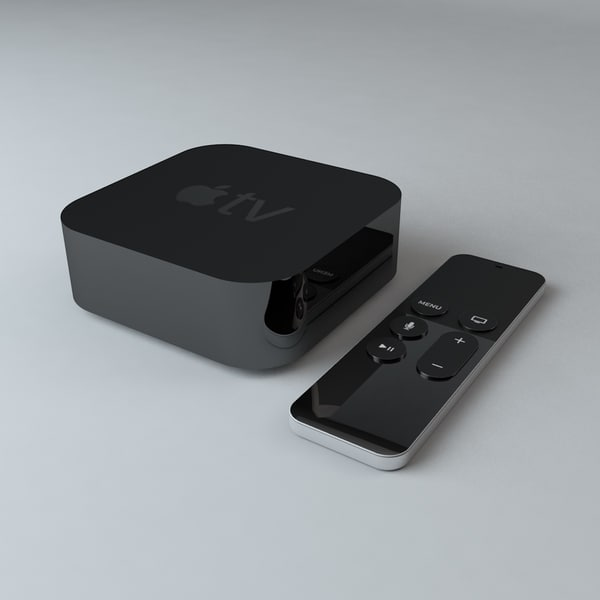 3d model apple tv remote