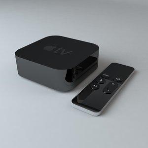 3d model apple tv remote