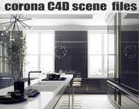 Classic Style Kitchen - CORONA & CINEMA 4D SCENE FILES