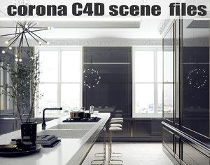 corona scene files - 3d 3ds