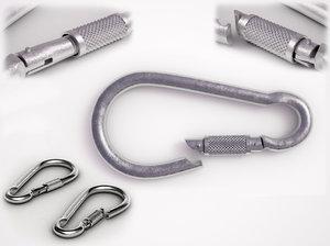 3ds steel carabiner