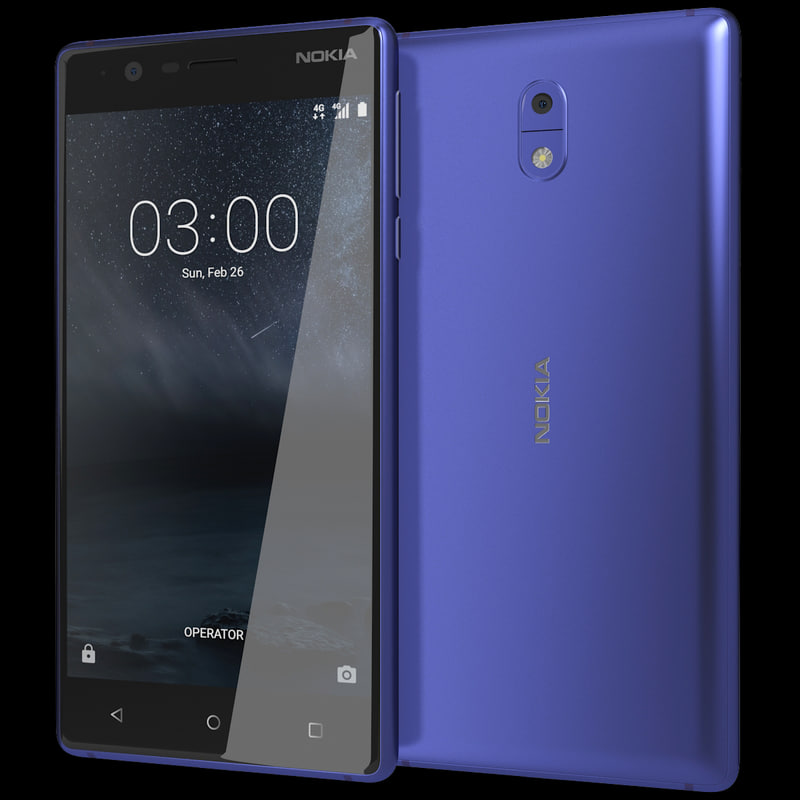 realistic nokia 3 tempered 3d model